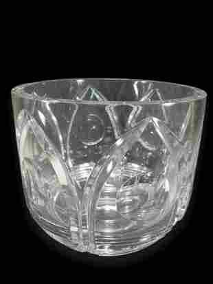 Vintage Orrefors clear crystal vase