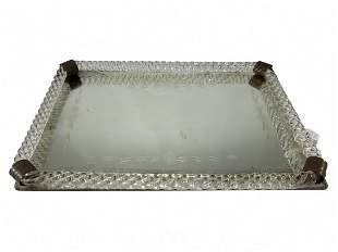Venini style murano tray
