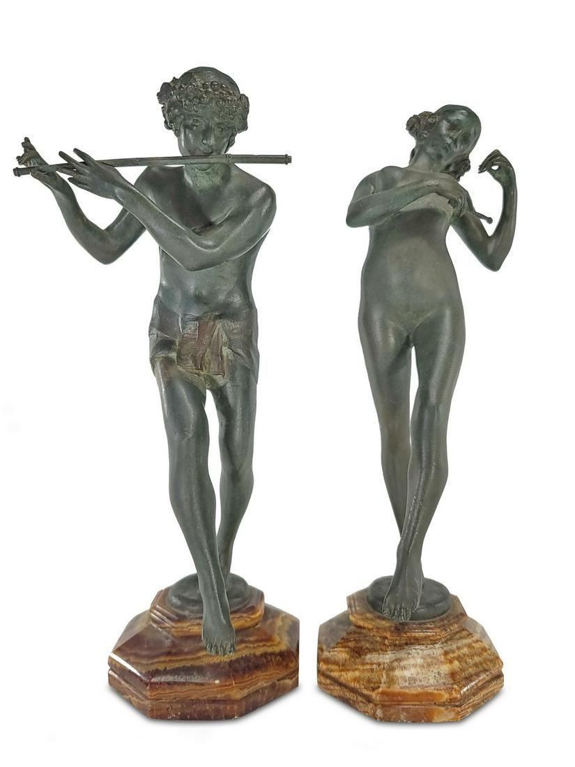 Eugene E. Piron (1875-1928) Bronze Sculptures