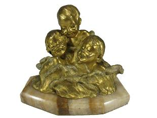 Charlotte MONGINOT (1872-?) gilt bronze sculpture