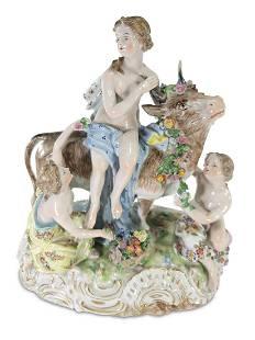 Vintage German Dresden porcelain group