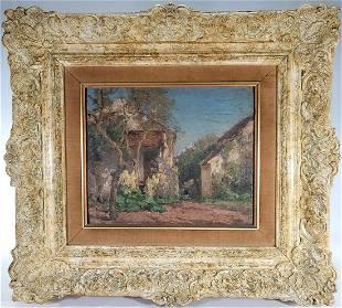 Jean Eugene Julien MASSE (1856-1950) French oil on wood