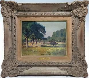 Charles LEFFEVRE (1813-1896) French oil on wood