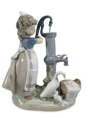 Lladro 5285 Summer on the Farm porcelain statue