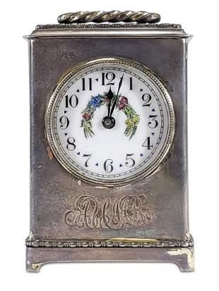 Antique Gorham sterling travel clock