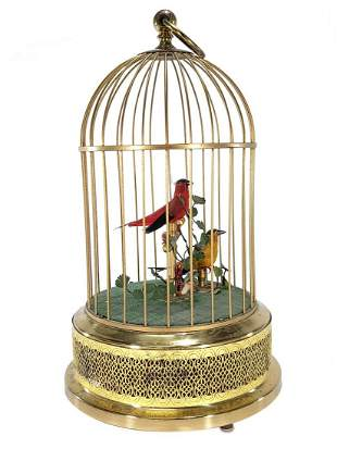 Vintage German bird cage music box