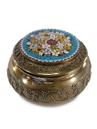 Antique Italian micromosaic & bronze box