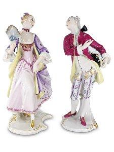 Vintage Rosenthal pair of porcelain figures