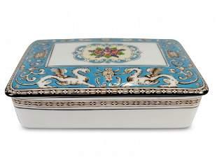 Vintage English Wedgwood porcelain box