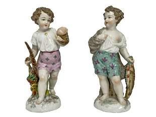 Antique German pair of porcelain figures