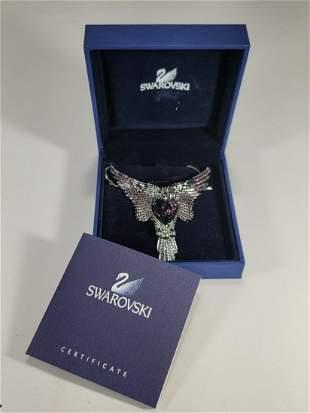 Swarovski Eagle amethyst necklace