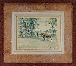 Signed F. Amorsolo, 51 watercolor painting
