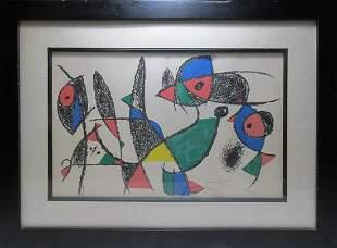 Signed Miro silkscreen or serigraph