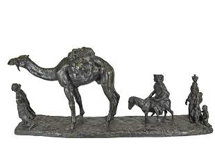 Eugene Leon LHOEST (1874-1937) Orientalist bronze