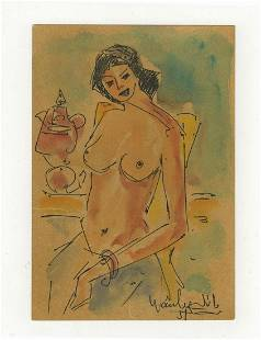 Seif WANLY (1906-1979) Egyptian artist watercolor