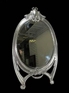 Antique probably German WMF silverplated mirror