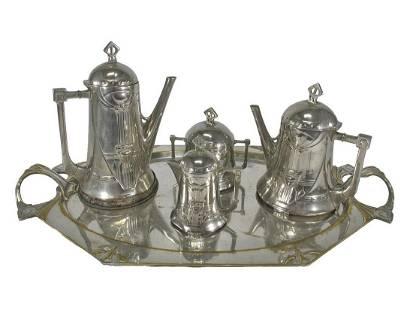 Antique German WMF silverplated set