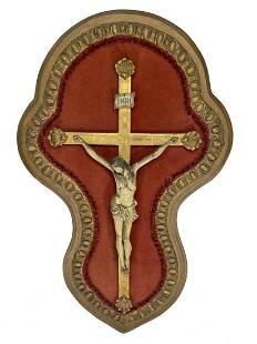 Antique European Jesuschrist wood sculpture