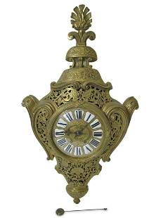 Antique French Marti bronze wall clock