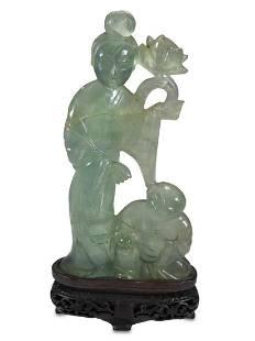 Antique Chinese jade sculpture