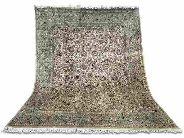 Hand Knotted Persian Kashan rug