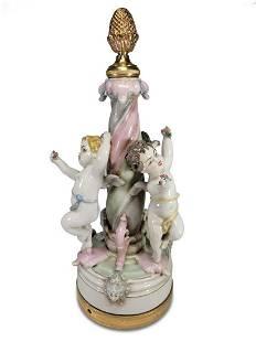 Antique German porcelain & bronze group