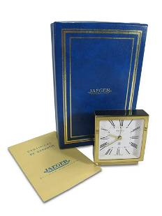 Jaeger Lecoultre 8 days alarm clock in a box