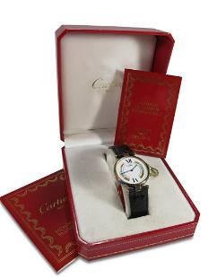 Must de Cartier 925 gilt silver ladies watch