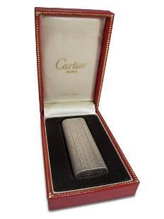Cartier, Paris silver lighter Swiss made