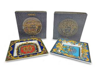 2 Versace, Rosenthal Le Roi Soleil porcelain plates