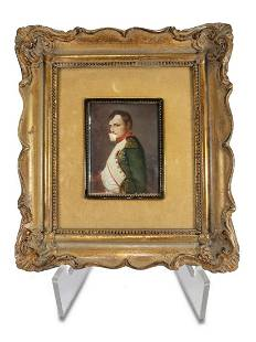 Antique French Napoleon miniature painting