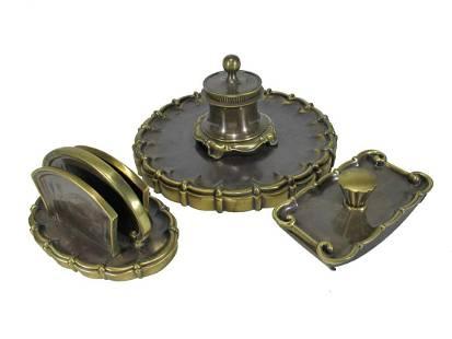 Antique bronze 3 pcs desk set