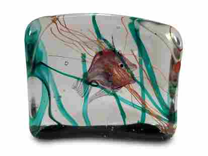 Vintage Aquarium Art Glass paperweight