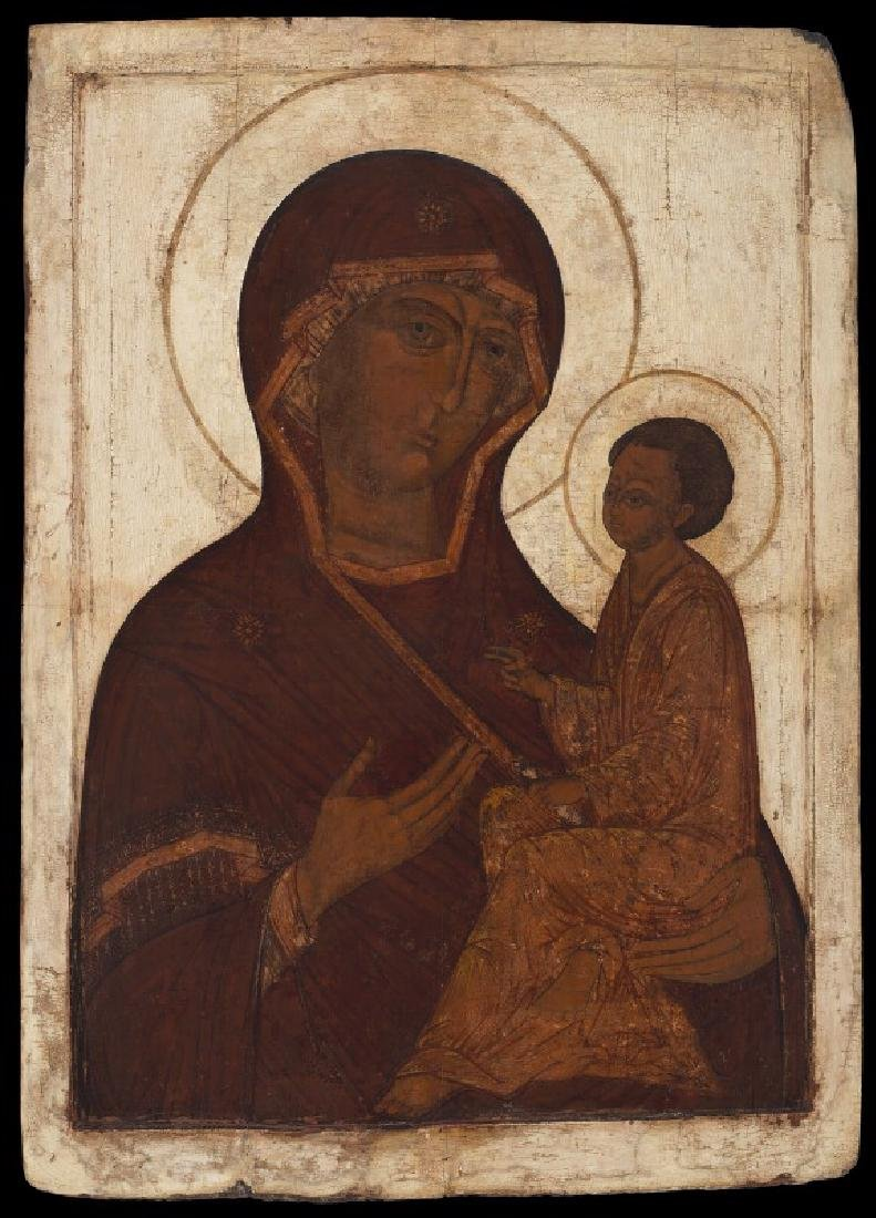 Russian icon, 16th century: An early, unusually large