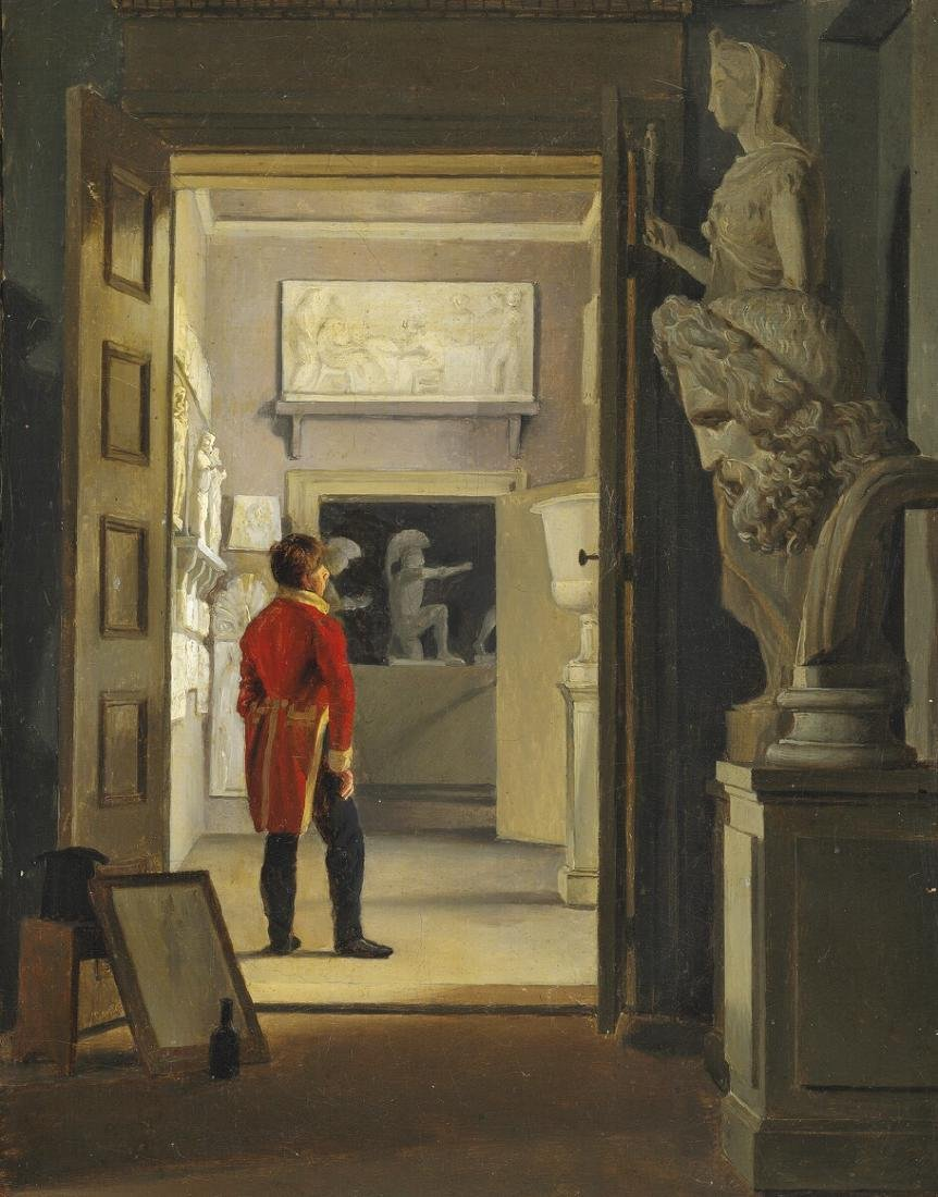 Adam Müller: Hall of Antiques at Charlottenborg. 1830.