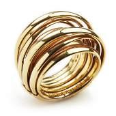 "de GRISOGONO: An ""Allegra"" ring of 18k gold. Size 53."