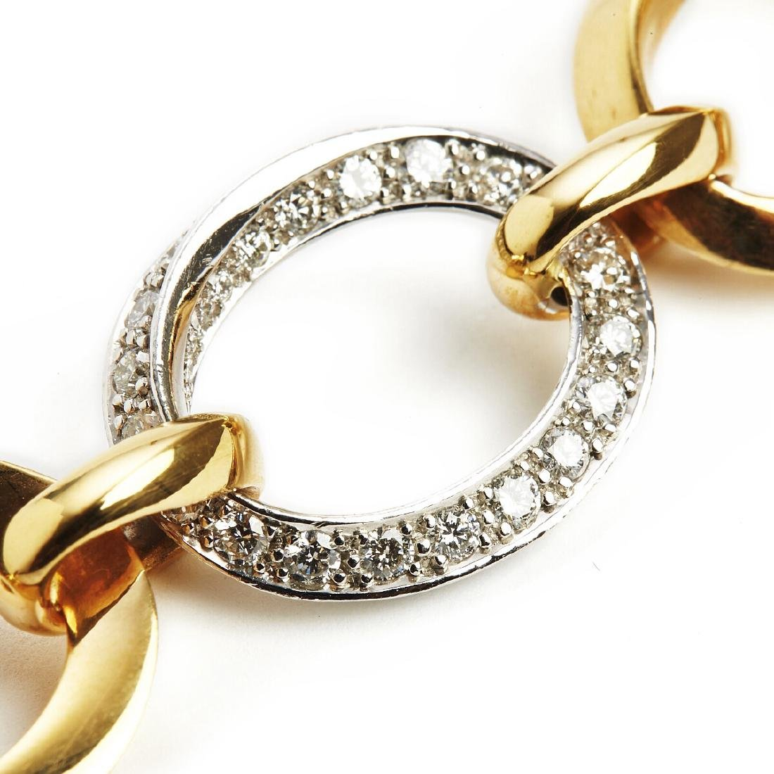 A diamond bracelet set with numerous brilliant-cut