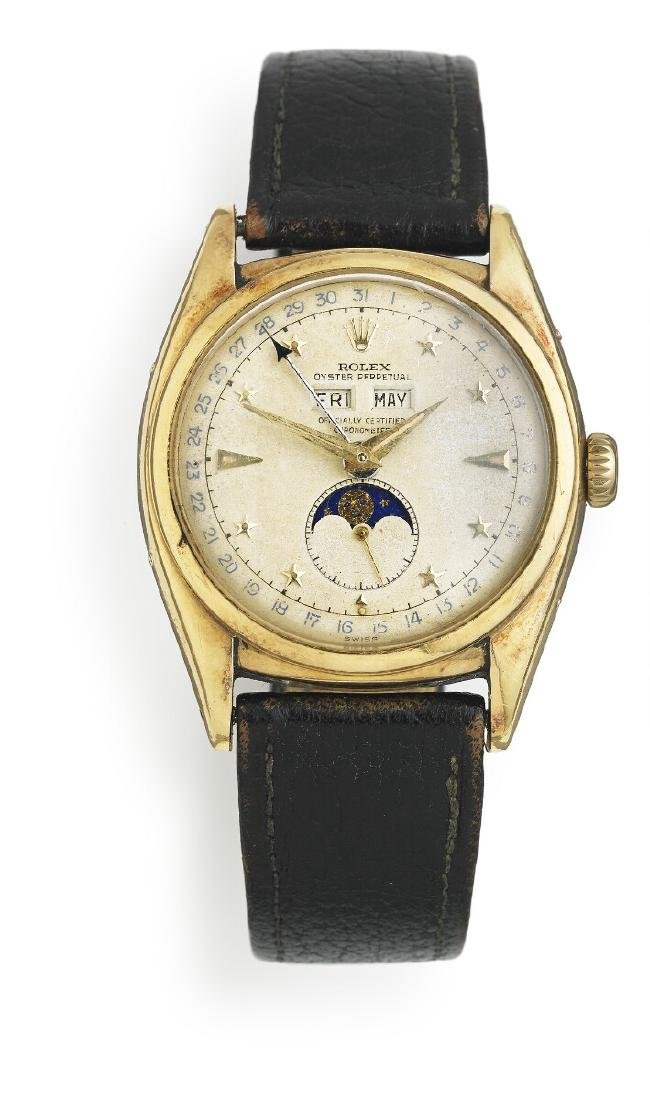 Rolex: A gentleman's wristwatch of 18k gold, ref. 6062