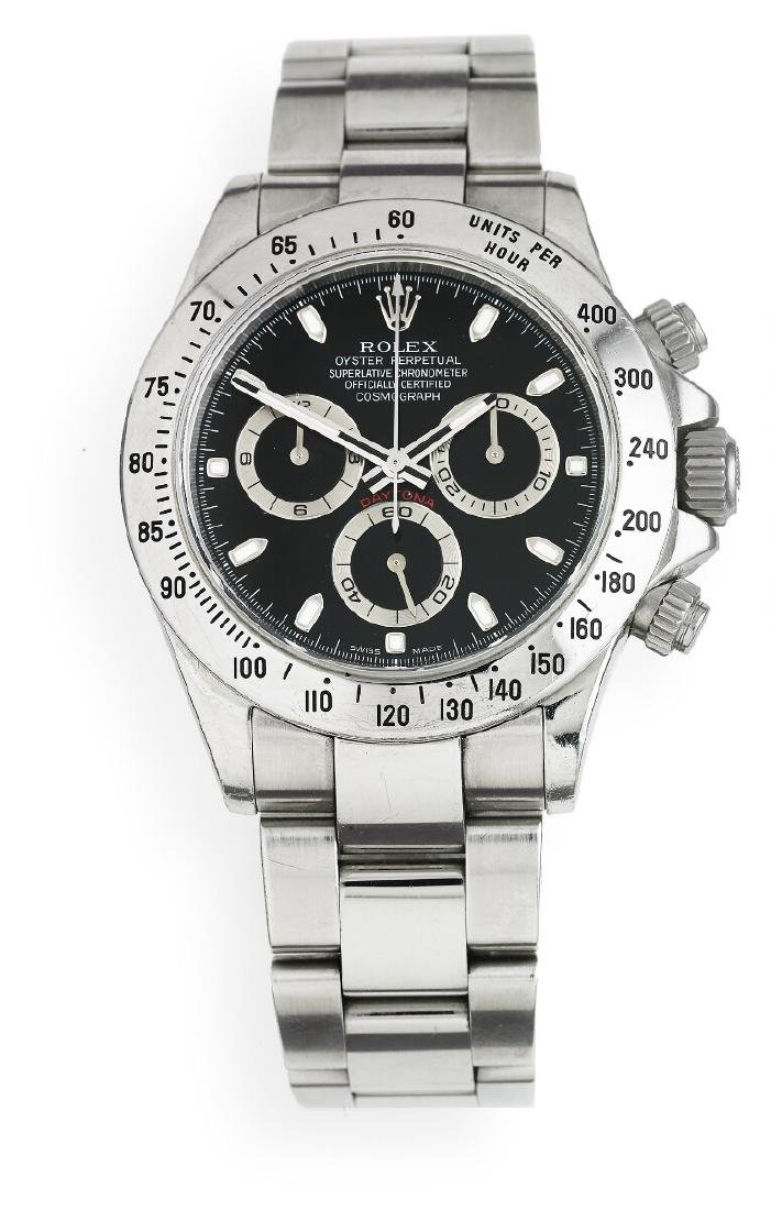 Rolex: A gentleman's wristwatch of steel. Model