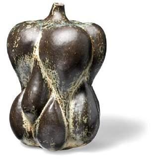 Axel Salto: A large, fruit shaped stoneware vase