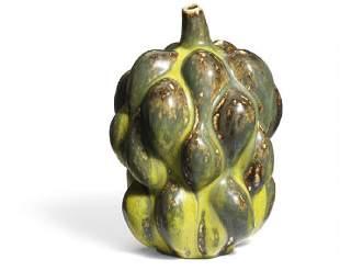 Axel Salto: Fruit-shaped stoneware vase modeled with
