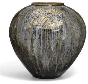 Axel Salto: Monumental stoneware floor vase modelled