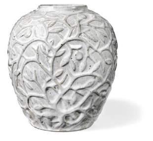 Axel Salto: Stoneware vase modelled with branches,