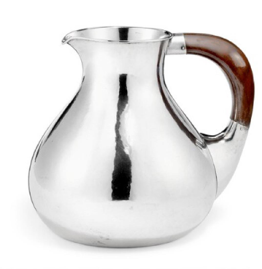 Einar Olsen: Sterling silver water pitcher with