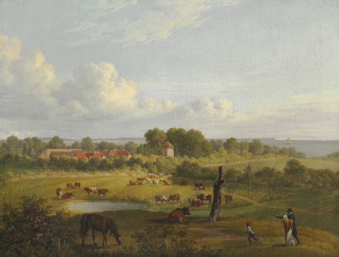 C. W. Eckersberg: View of the manor Nordfeldt on the