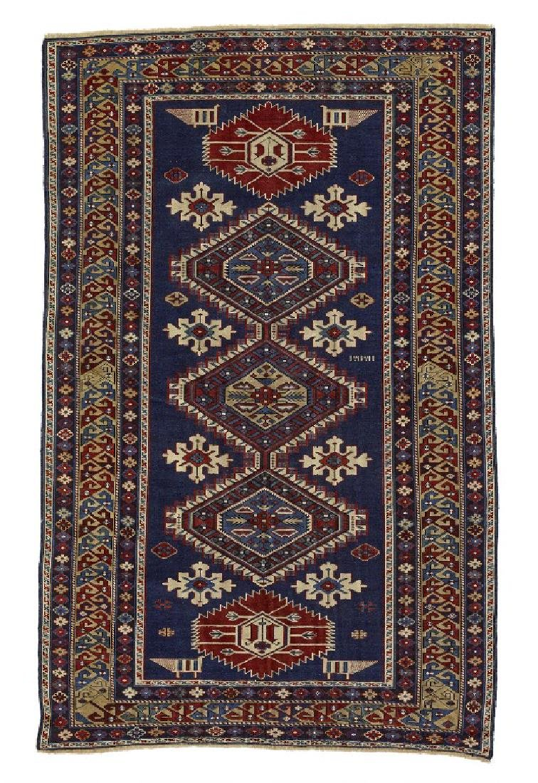 An antique Karaghasli rug, Caucasus. Design with linked