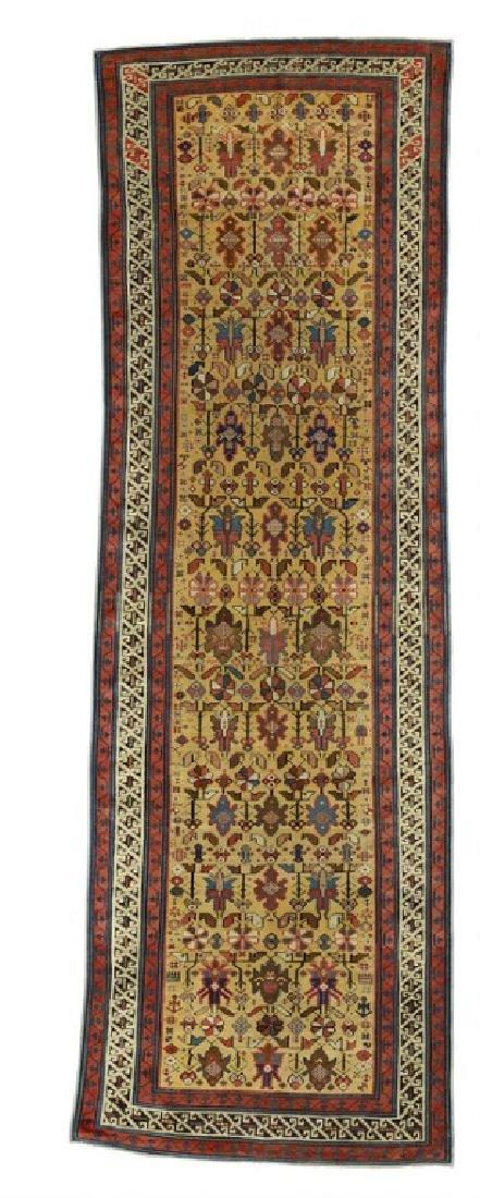 An antique Kuba-Seichur long rug, Caucasus. 19th