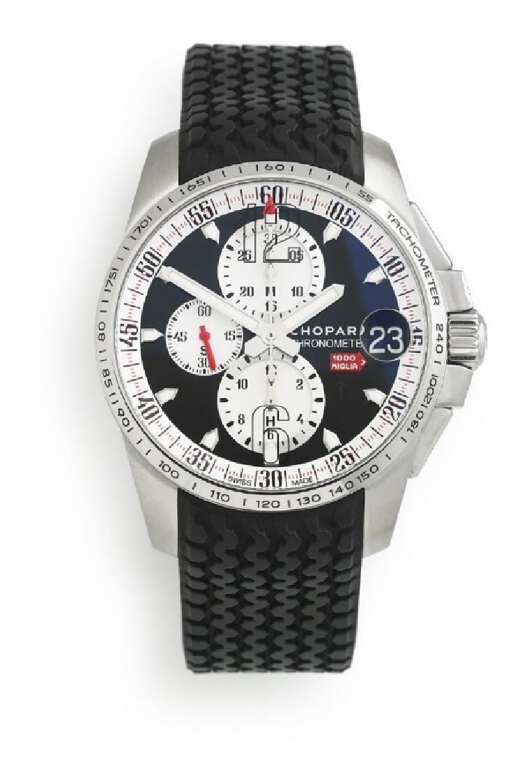 Chopard: A gentleman's wristwatch of steel. Ref.