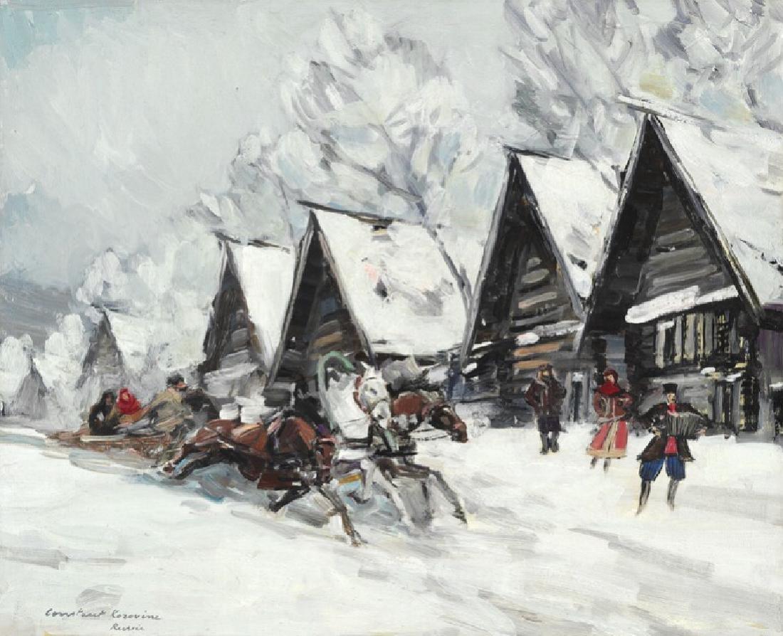 Konstantin Alexeevich Korovin: Russian winter landscape