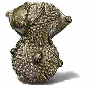 Axel Salto: A large sculptural stoneware vase modelled